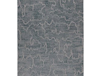 Kelly Wearstler Staccato Steel Hand-knotted 14x10 Rug In Wool And Silk By Kelly Wearstler