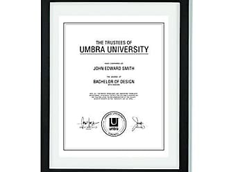 Umbra Document - 11x14 Frame - Floating Frame for Displaying 8-1/2x11 or 11x14 Inch Document, Diploma, Certificate, Photo or Artwork, Black