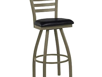 Regal Delano 30 in. Swivel Counter Stool with Vinyl Seat Black - 3516U-26-ANODIZED NICKEL-BLACK