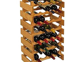 Wooden Mallet 28 Bottle Dakota Wine Rack, Light Oak