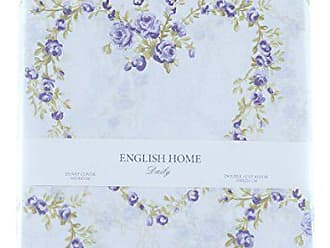english home rose heart bed clothes 200x220 cm purple baumwolle 200 x 220 cm