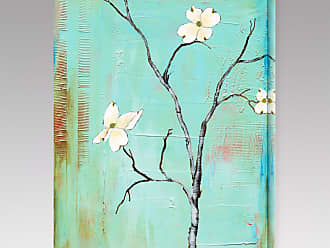 Gallery Direct Dogwood on Turquoise I Indoor/Outdoor Canvas Print by Laura Gunn - NE37389