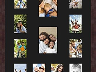 Art to Frames Double-Multimat-611-89/89-FRBW26061 Collage Frame Photo Mat Double Mat with 10-3.5x5 and 2-5x7 Openings and Espresso Frame