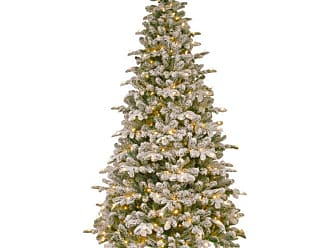 National Tree Company 7.5 ft. Feel-Real Snowy Everest Fir Hinged Pre-Lit Medium Christmas Tree - PEV3-311-75