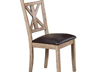 Winners Only Upholstered Cross Back Dining Side Chair - Set of 2 - WIN799-1