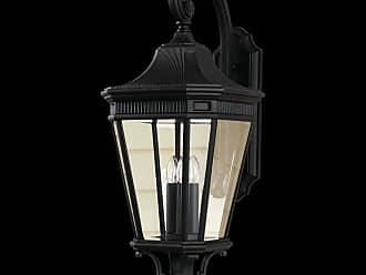 Feiss OL5404BK Cotswold Lane Outdoor Lantern in Black finish with Clear beveled glass shade