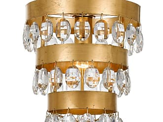 Crystorama Perla 1-Light Antique Gold Mini Chandelier