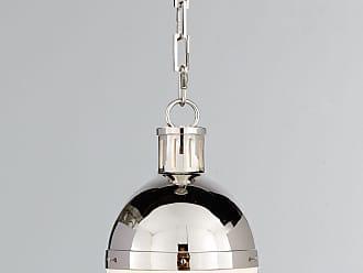 Visual Comfort Hicks 1-Light Small Polished-Nickel Pendant