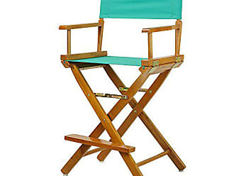 Yu Shan Casual Home 24 Directors Chair Honey Oak Frame-with Teal Canvas, Counter Height