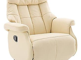 robas lund sessel relaxsessel calgary comfort l leder creme 86 x