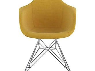 NyeKoncept 332003EM1 Mid Century Eiffel Arm Chair, Papaya Yellow