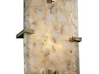 Justice Design Group Alabaster Rocks! Clips Rectangle Wall Sconce
