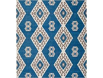 Belham Living Verbena Global Outdoor Rug Blue/Tan, Size: 8 x 10 ft. - VERB C