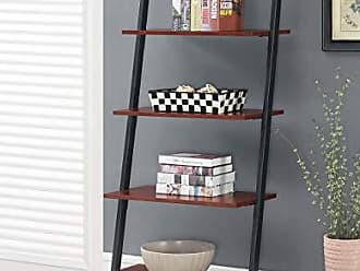 Convenience Concepts 111289CH Graystone 4-Tier Ladder Bookcase, Cherry/Black Frame