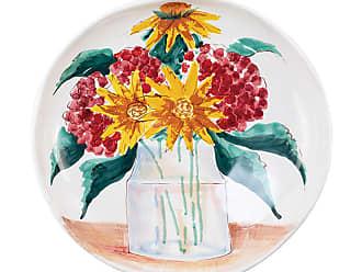 Vietri Wall Plates Floral Bouquet Shallow Serving Bowl