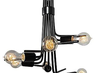 Varaluz Socket-To-Me 6-Light Chandelier in Black Finish