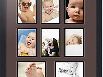 Art to Frames Double-Multimat-428-776/89-FRBW26079 Collage Photo Frame Double Mat with 8-4x6 Openings and Satin Black Frame