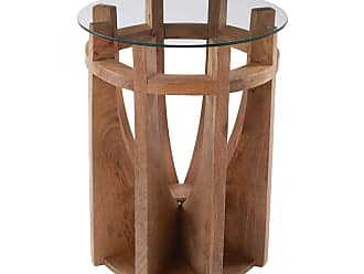 Dimond Home Wooden Sundial Side Table