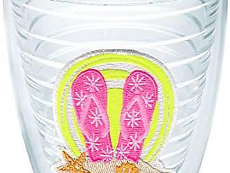 Trevis Tervis 1098417 Neon Flip Flop Tumbler with Emblem 12oz, Clear