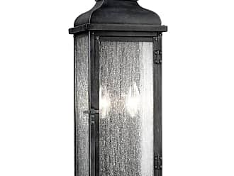 Feiss Pediment 18.13 2-Light Outdoor Wall Sconce in Dark Weathered Zinc