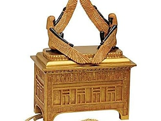 Design Toscano Religious Gift Trinket Box - The Ark of The Covenant Jewelry Box: Grande - Egyptian Statues