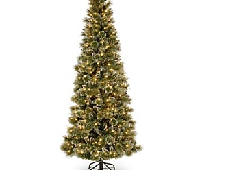 National Tree Company 7.5 ft. Glittery Bristle Pine Hinged Pre-Lit LED Christmas Tree - GB3-319-75
