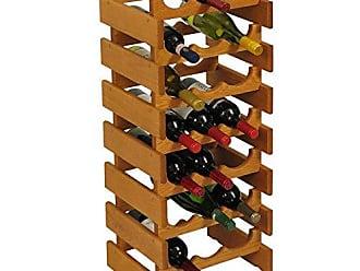Wooden Mallet 21 Bottle Dakota Wine Rack, Medium Oak