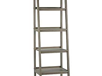 Simpli Home Simpli Home 3AXCSAW-05-GR Sawhorse Solid Wood 72 inch x 24 inch Modern Industrial Ladder Shelf in Distressed Grey