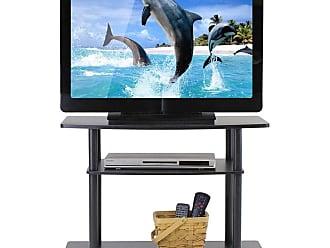 Furinno Turn-N-Tube No Tools 3-Tier TV Stand - 13192DBR/BK