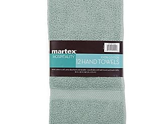 Westpoint Home COMMERCIAL PREMIUM 12 PIECE HAND TOWEL SET BY MARTEX - 12 Hand Towels, Home, Business, Shower, Tub, Gym, Pool, Golf, Salon - Machine Washable, Absorbent, Professional Grade, Hotel Quality - AQUA
