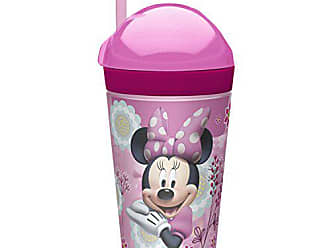 Zak designs Minnie ZakSnak All-In-One Drink Tumbler + Snack Container For Toddlers - Spill-proof 4oz Snack Container Screws Securely Onto 10oz Tumbler With Accessible Straw, Minnie Bowtique