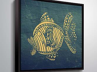 Brushstone Goldfish by Scott Medwetz Framed Canvas - 0MED847A1010F