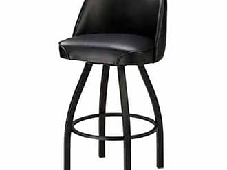 Regal Bucket Seat 30 in. Black Cone Metal Bar Stool Golden Brown - P2-1115-30-CHROME-ELDIEGO-GOLDENBROWN