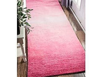 nuLOOM AWVE18C Handmade Modern Solid Ombre Runner Rug, 2 6 x 8, Pink