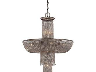 Metropolitan Shimmering Falls 23.75 12-Light Pendant in Antique Silver