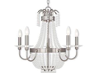 Livex Lighting 51845 Valentina 5 Light 1 Tier Chandelier Hand Applied