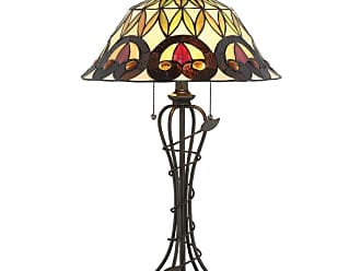 Lite Source Inc. C41385 Odetta 2 Light 25-1/2 High Table Lamp with Tiffany