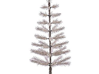 Vickerman Champagne Feather Artificial Christmas Tree, 4 x 20
