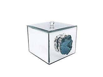 The Jay Companies American Atelier Agate Decorative Box, Silver