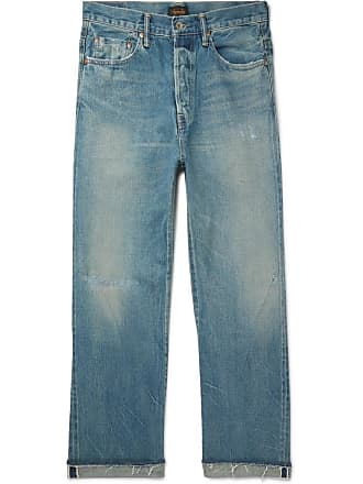 Denim Selvedge Distressed Chimala Jeans Blue q8AwcfcZ