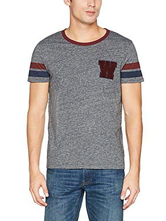 X Grey large W Gris Ty speckled Para Camiseta Wrangler Hombre Tee wHZqzTTpx