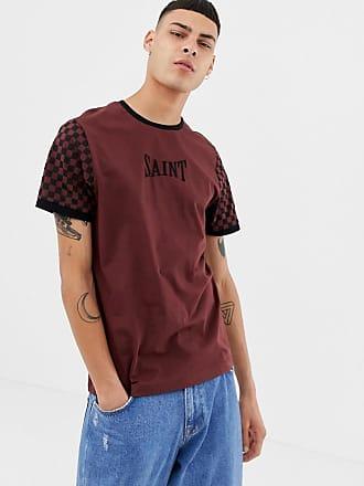 Brooklyn Schachbrettmuster Ärmeln CoCoT shirt In Mit Kontrastierenden Supply Rot fgyYb6v7