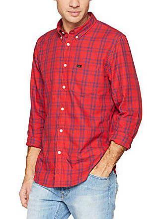 Red Down Camicia Xx Button bright Blu Gxef Uomo Lee qY4v1F5