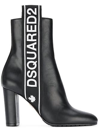 Ankle Dsquared2 Stripe Logo Boots Noir y44zP7