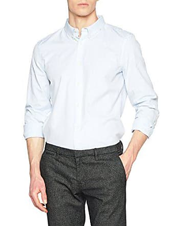Casual L Large Connection Azul French Classic Hombre Camisa Soft Oxford kentucky Para Blue s UBH6q0w