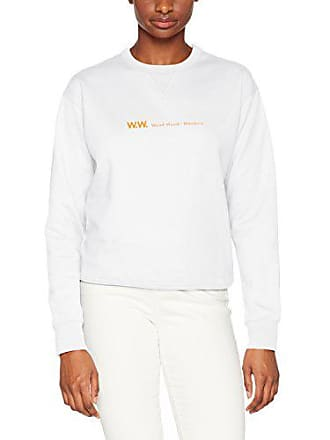 Flora Sweatshirt White Blanc Femme bright Sweat Wood Shirt 5dnwfUO5q