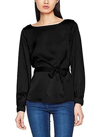 Pcmana Para 38 Del Mujer Pieces talla Medium Negro Top Ls Blusa Fabricante Black Tie 4qHHxwdUA