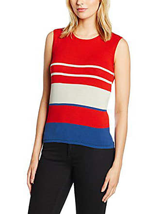 Red Stripe Taille Benetton Knit Femme Top Fabricant Rouge waxcc6UXWq