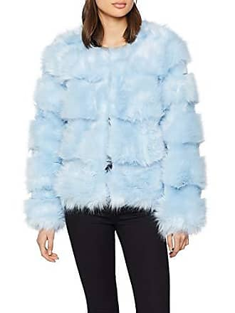 45 Femme Look Sofia light Blue Pelted Manteau New Bleu A8pBCz