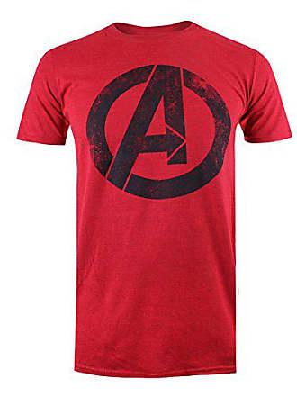 Heather Logo shirt T M Distressed Red Marvel wqURPf7g